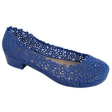 NEW Womens shoes Daisy Blue Ballet Flats Jelly Shoes