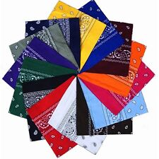 Wholesale 100% Cotton Paisley Printed Bandana Head Wrap Scarf Wristband Headband