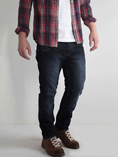 883 Police Mens Cassady MO 369 Mid Blue Wash Regular Fit Jeans Trousers