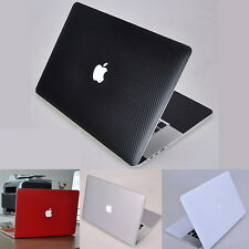 Carbon Fiber 3D Sticker Skin Cover Guard Protector fr Apple MacBook Pro 15 A1398