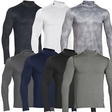 Under Armour ColdGear Long Sleeve Mock Mens 2016 Shirt Golf Base Layer - Fitted