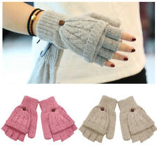 New Women's Winter Fingerless Gloves Knitted Mitten Covering Half Finger Gloves