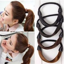 Fashion Lady Girl's Straight Wig Elastic Hair Band Rope Holder  4 Colors New