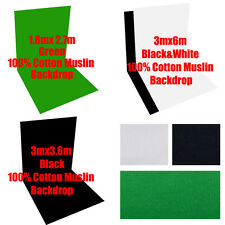 Photography Muslin Backdrop100% Cotton Photo 3Colors Background Video Studio