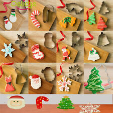 Christmas Party Stainless Cookie Cutter Mould Biscuit Cake Baking Pastry Tool