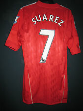 Liverpool 2011-12 EPL Remebrance ADIDAS Techfit Player issue Home Shirt SUAREZ