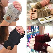 New Women Winter Wrist Arm Hand Warmer Knitted Fingerless Gloves Mittens Fashion