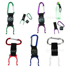 VARIOUS Carabiner Water Bottle Holder Clip Camping Hiking Outdoor Travel Buckle