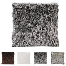 18'' Faux Fur Throw Pillow Cases Home Decorative Cushion Cover Square Pillow New