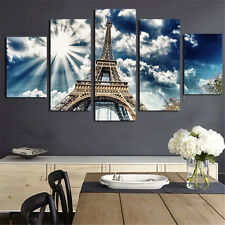 Eiffel Tower Canvas Art Oil Painting Modular Picture for Living Room No Frame 5P