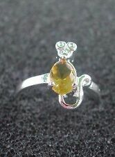 Mouse Ring, 925 Sterling Silver Solitaire center stone, Birthstone ring