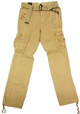 M. Society Khaki Drawstring Ankle Belted Cargo Pants