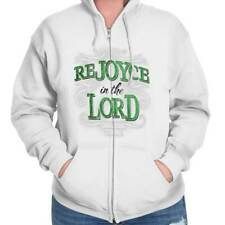 ReJOYce In The Lord Christ Christian T Shirts Jesus Christ Zipper Hoodie