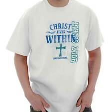 Christ Lives Within Christian T Shirts Jesus Christ Gift Ideas T Shirt Tee