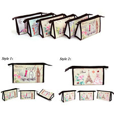 Fashion Travel Cosmetic Bag Makeup Case Retro Multi-function Toiletry Wash HOT