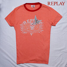 Men's Replay T-Shirt Casual Designer Graphic Tee Shirt Top Size L