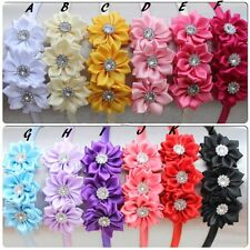 Baby Kids Flower Bow Satin Ribbon Headband Alice Hair Head Band Hairband 1PCS