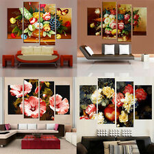 4Pcs Flowers Decorative Picture Canvas Painting Living Room Home Decor No Frame