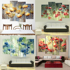 Abstract Canvas Oil Painting Flowers Wall Ar Canvas Posters and Prints No Frame