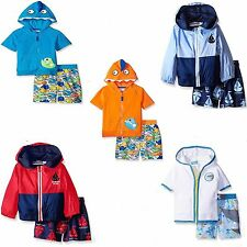 Wippette SOL Hoody Jacket Cover up & Swim Trunks Set NWT 3 6 9 12 18 24 3T 4T