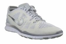 [704674-100] Womens Nike Free 5.0 Tr Fit 5 Running Shoes White/Silver