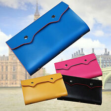 108 Slot Bag Name ID Business Card Holder Faux Leather Credit Card Case Engaging