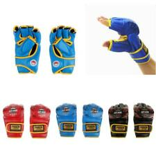 1Pair Padded Grappling Gloves Martial Arts Kicking Boxing UFC MMA Training Mitts