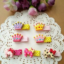 10pcs/lot cute crown Kids Girls baby Toddler Hair Clips hairpin Hair Accessories