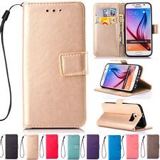 Stand ID Card Wallet Leather Flip Case Cover For Samsung S5 S6 S7 Edge J5 G360