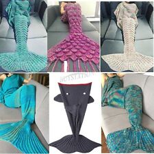 Super Soft Warm Hand-Crocheted Mermaid Tail Blanket Sofa Blanket Christmas Gift