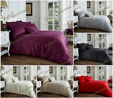 Luxury Jacquard Duvet Set With Pillow Cases Quilt Cover Single Double King Bed