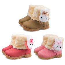 New Korean Style Baby Girls Snowboots Comfortable Cotton Rabbit Head Shoes BE