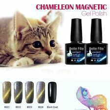 BELLE FILLE Cat Eye's Chameleon Color Changing Nail Gel Polish Soak-off UV Lamp