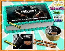 Call of Duty Black ops Birthday Cake topper Edible sugar cupcakes picture 1 2 3