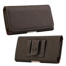 Luxmo Belt Clip Horizontal Pouch Leather Carry Case For Large Cell Phone 5.5''