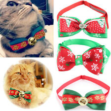 Christmas Xams Dog Bow Tie Neck Acccessory Necklace Collar Cat Pet Dickie Bow