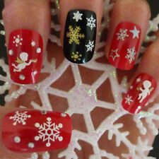 Snowflakes Snowman 3D Nail Art Stickers Decals Fingernail Accessories Engaging