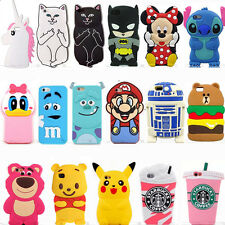 New Cute 3D Cartoon Animal Soft Silicone Phone Case Cover Back Skin For iPhone