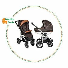 Pram Pushchair Stroller Baby Boat 3in1 Buggy Travel System+Covers+Changing Bag