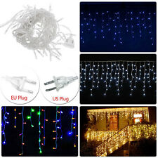 Curtain Net Mesh Icicle Fairy String Lights Garden Christmas Wedding Party LED