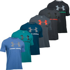 2016 Under Armour Mens Charged Cotton Sportstyle Logo Tee Training Top T-Shirt