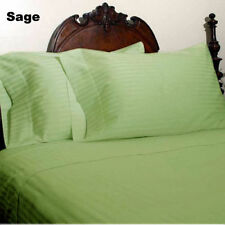 GLORIOUS SHEET SET 1000TC SAGE STRIPE 100%EGYPTIAN COTTON US ALL SIZE
