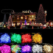 Hot 10M 100LED Bulbs Christmas Tree Fairy Party String Lights Waterproof US Plug