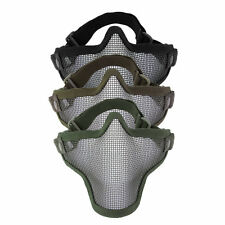 Steel Mesh Half Face Mask Guard Protect For Paintball Airsoft Game Hunting BE