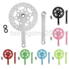 High-Carbon Steel Single Speed Bike Bicycle 44T Fixie Crankset Crank 7 Colors