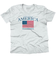 Tennessee State Patriotic Gift Ideas American USA T Shirt Flag V-Neck T-Shirt