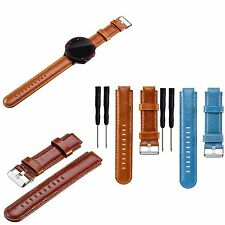 Genuine Leather Watch Band Strap For Garmin Forerunner 220/620/630/230/235/735