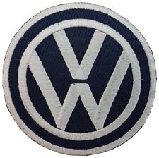 VW Volkswagen Emblem Navy Blue Badge Embroidered Patch Sew on Iron-on 9cm