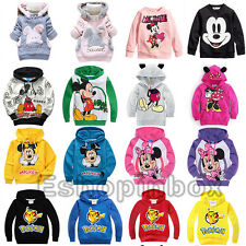 Mickey Minnie Toddler Hoodies Cartoon Sweatshirt Boys Girl XMAS Jumper Clothing