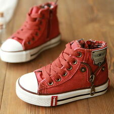 Kids canvas shoes fashion shoes boys shoes for girls beautiful jeans pattern